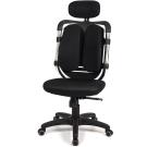 aaronation 愛倫國度 - 黑爪泡棉坐墊雙背式辦公電腦椅