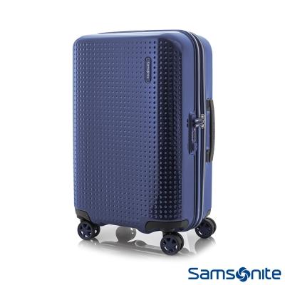 Samsonite新秀麗 20吋Pixelon圓弧立體圓點PC硬殼拉鍊登機箱(寶石藍)