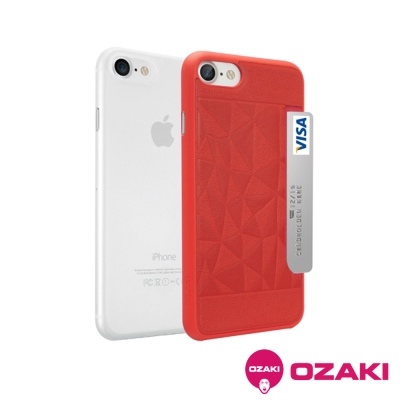 Ozaki Jelly+Pocket iPhone7 4.7吋二合一超薄口袋保護...