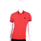 VERSACE 紅色條紋滾邊設計短袖POLO衫