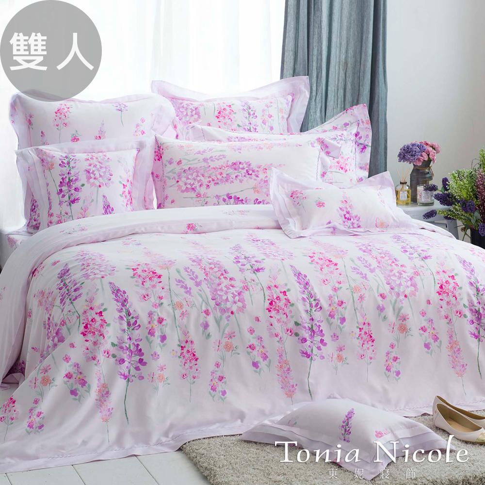 Tonia Nicole東妮寢飾 瓦妮莎高紗支精梳棉被套床包4件組(雙人)