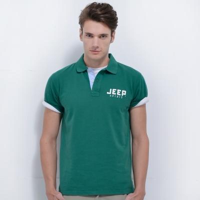 Jeep 純色經典POLO衫-綠色