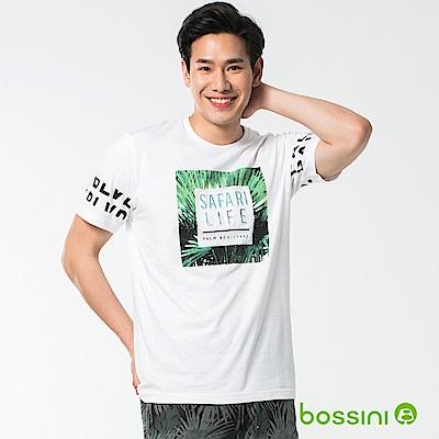 bossini男裝-圓領短袖T恤09白
