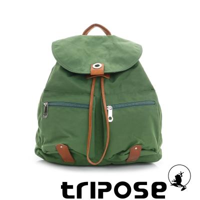 tripose MOVE系列輕休閒翻蓋機能後背包(小) 草地綠