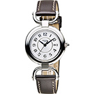 LONGINES 騎仕系列優雅石英女錶(L61314732)-銀x咖啡/30mm