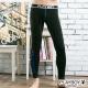 PLAYBOY運動型男流線設計蓄熱保暖內搭褲-黑底