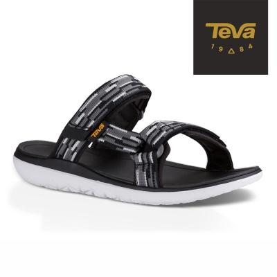 TEVA 美國 男 Terra-Float Slide 休閒拖鞋 (黑白)