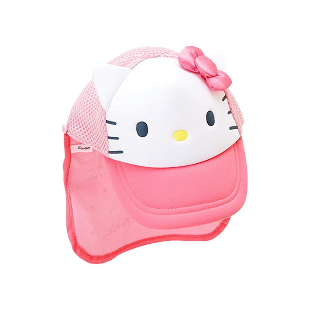 Sanrio HELLO KITTY女童用頭頸遮陽造型棒球帽(氣球)