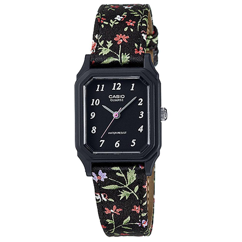 CASIO 復古花圖騰時尚風指針腕錶(LQ-142LB-1B)黑/22.5mm @ Y!購物