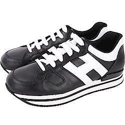 HOGAN H222 黑色厚底繫帶休閒鞋