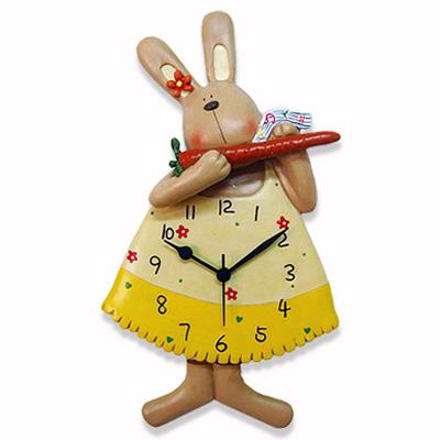 棉花田【紅蘿蔔兔】波麗立體大擺鐘