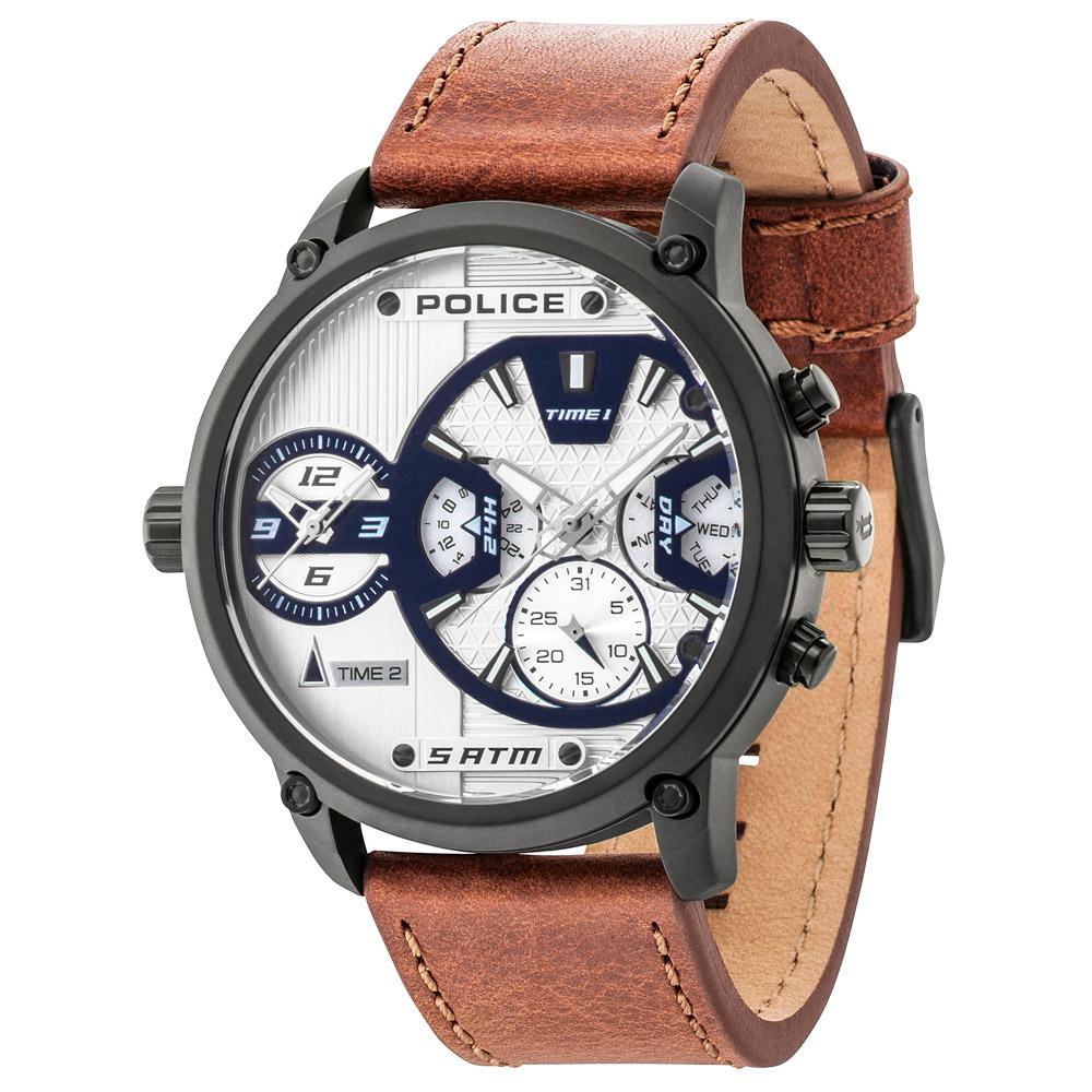 POLICE 勇闖禁區雙時區時尚錶(14833JSB-04A)-50mm