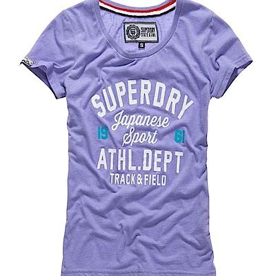 SUPERDRY 極度乾燥 女 T恤 紫色 0725