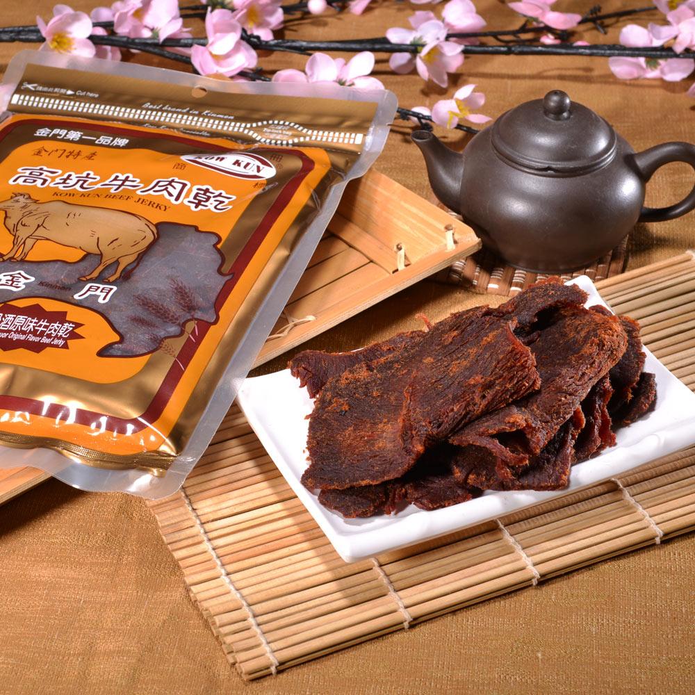 金門高坑 高粱原味牛肉乾 4包 (180g/包)
