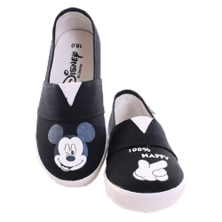 迪士尼 米奇 鬆緊帶 帆布鞋 黑 sh9966