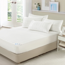 精靈工廠 北歐風防潑水純白單人床包式保潔墊