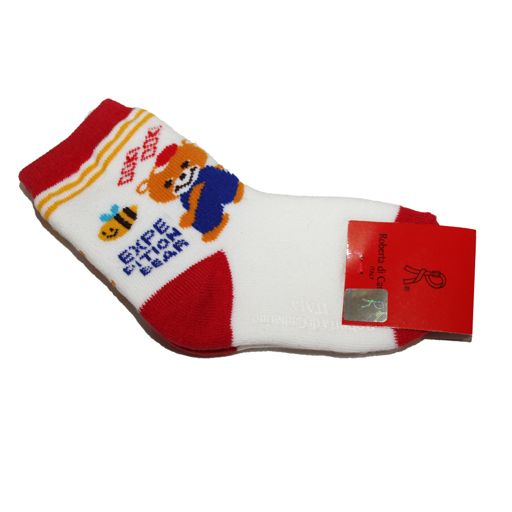 Roberta Colum 諾貝達 蜂&熊全毛巾止滑童襪~6雙(隨機取色)