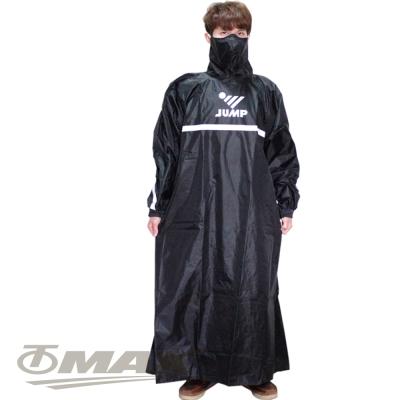 JUMP反穿式風雨衣-黑色+通用鞋套