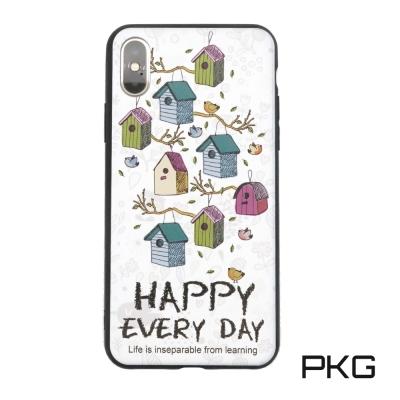 PKG Apple IPhone X 保護殼(時尚彩繪系列)房子