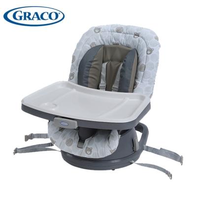 Graco 成長型旋轉餐椅 Swivi Seat 3 in 1 Booster(點點熊)