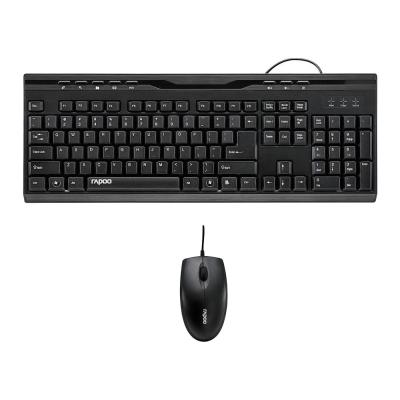 NX1710(有線光學鍵鼠組)+MP231(紓壓護腕滑鼠墊)