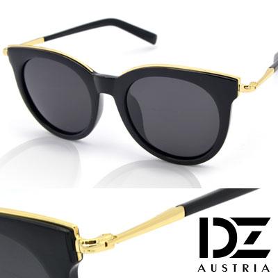DZ 玩美眉框 抗UV 偏光太陽眼鏡墨鏡(黑框灰片)
