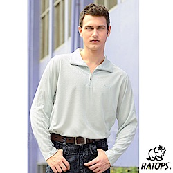 【瑞多仕-RATOPS】男 Coolmax 薄長袖拉鍊休閒衫_DB8440 銀灰