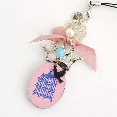 Aimee Toff 皇冠木鳥小籠精緻可愛手機吊飾