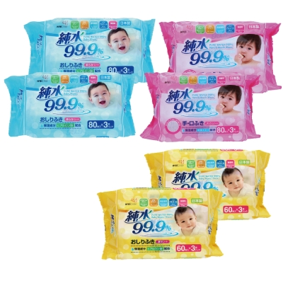 Weicker-純水99.9%日本製濕紙巾一般型6包手口專用6包+厚型6包