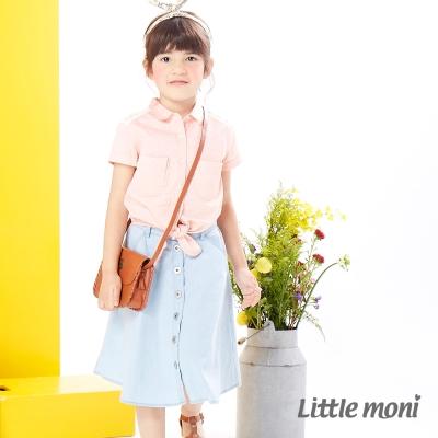 Little moni 美式街頭個性牛仔長裙 牛仔藍