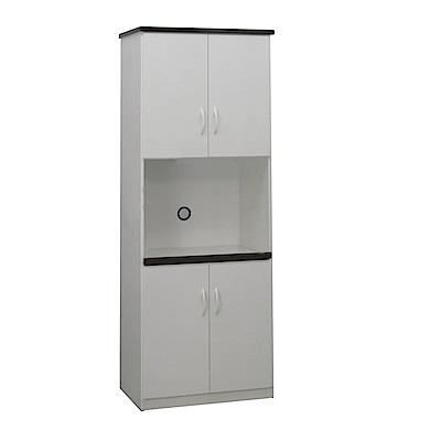 品家居 瑪波2.2尺環保塑鋼四門高餐櫃(二色可選)-66x43x180cm-免組
