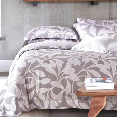 Saint Rose 和味 加大100%純天絲全鋪棉床包兩用被套四件組
