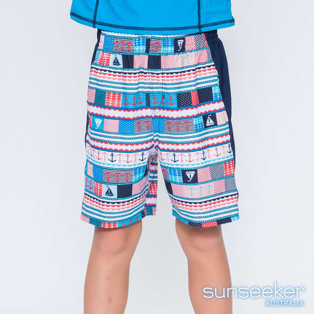 澳洲Sunseeker泳裝抗UV防曬海灘褲泳褲-大男童泳褲/海軍藍