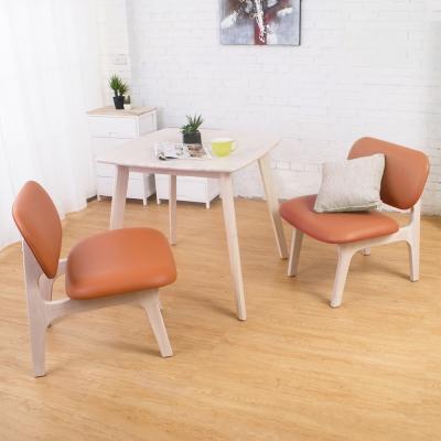 Bernice-迪娜實木餐桌椅組(一桌二椅)-80x80x76cm