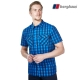 【Berghaus貝豪斯】男款銀離子抗菌除臭抗UV短袖襯衫S06M42潛水藍 product thumbnail 1