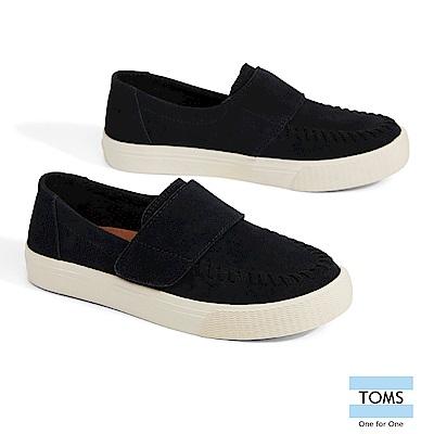 TOMS 麂皮混紡粗縫線休閒鞋-女款