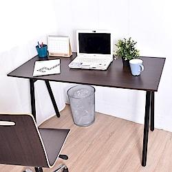 凱堡 桌子書桌 A字工作桌電腦桌胡木色 120x60x75cm