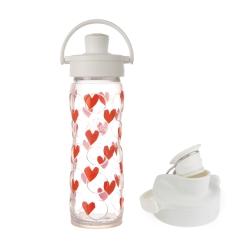 美國唯樂Lifefactory繽紛彩色玻璃水瓶掀蓋4