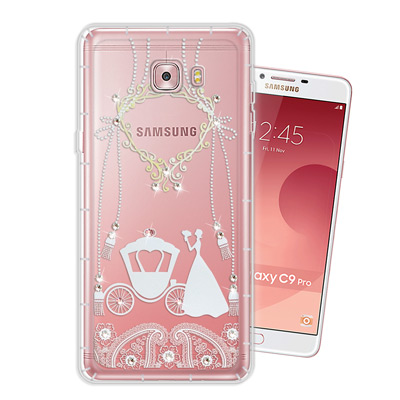 WT Samsung Galaxy C9 Pro 奧地利水晶彩繪空壓手機殼(精靈...