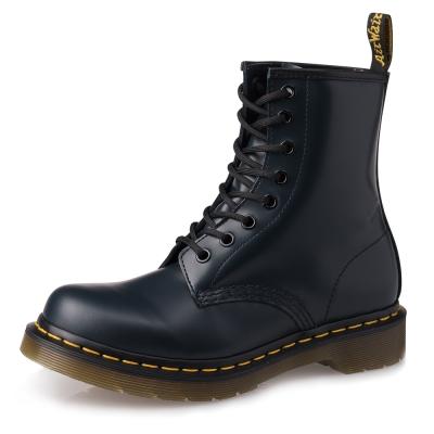 Dr.Martens-經典1460 8孔亮皮馬汀靴-女款-深藍