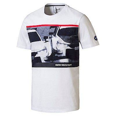 PUMA-男性BMW系列夜貓短袖T恤-白色-歐規