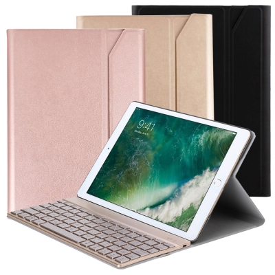 iPad Air3/Pro10.5吋專用尊榮型分離式鋁合金超薄藍牙鍵盤/皮套