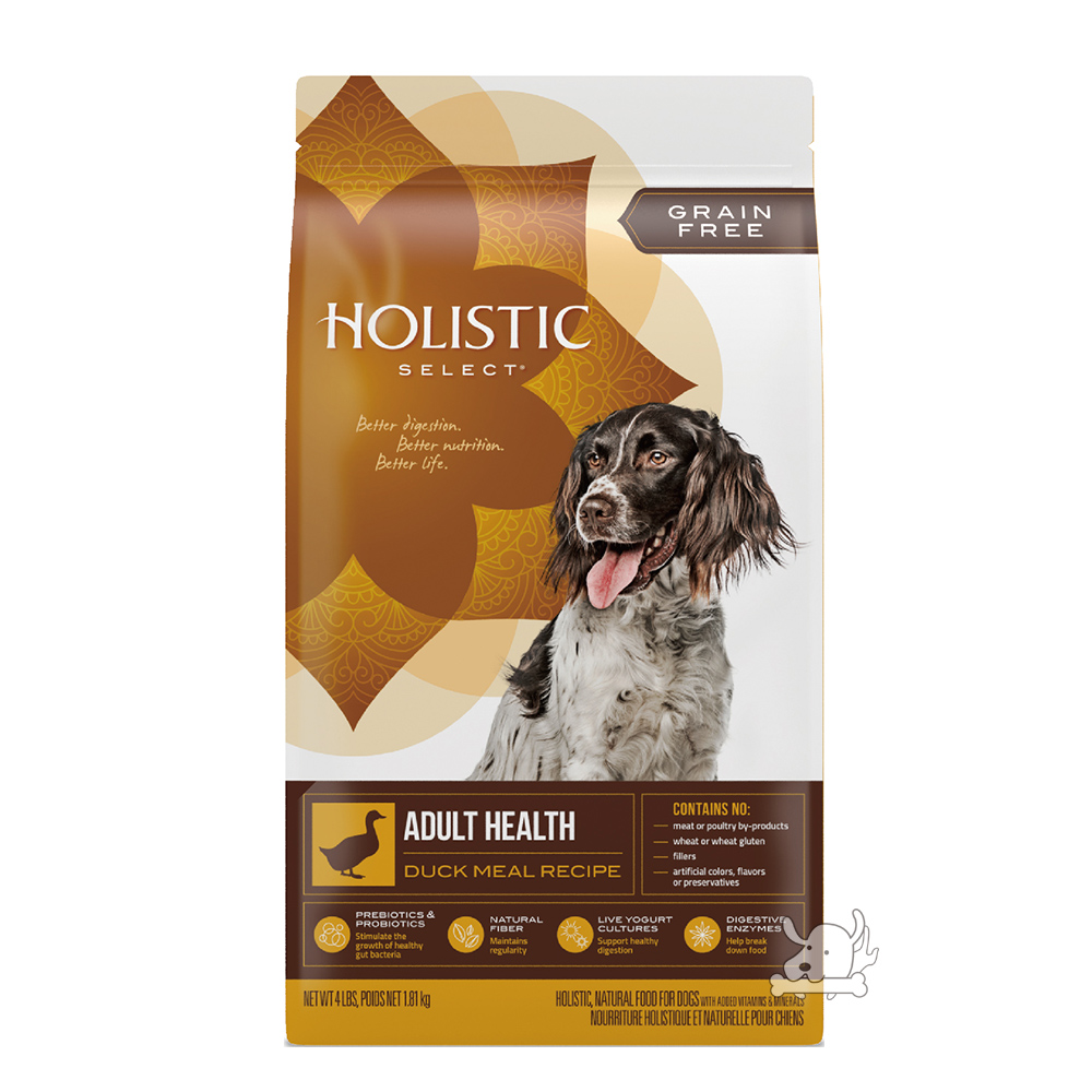 Holistic Select 活力滋 無穀成犬 鴨肉美膚低敏配方 12磅 X 1包