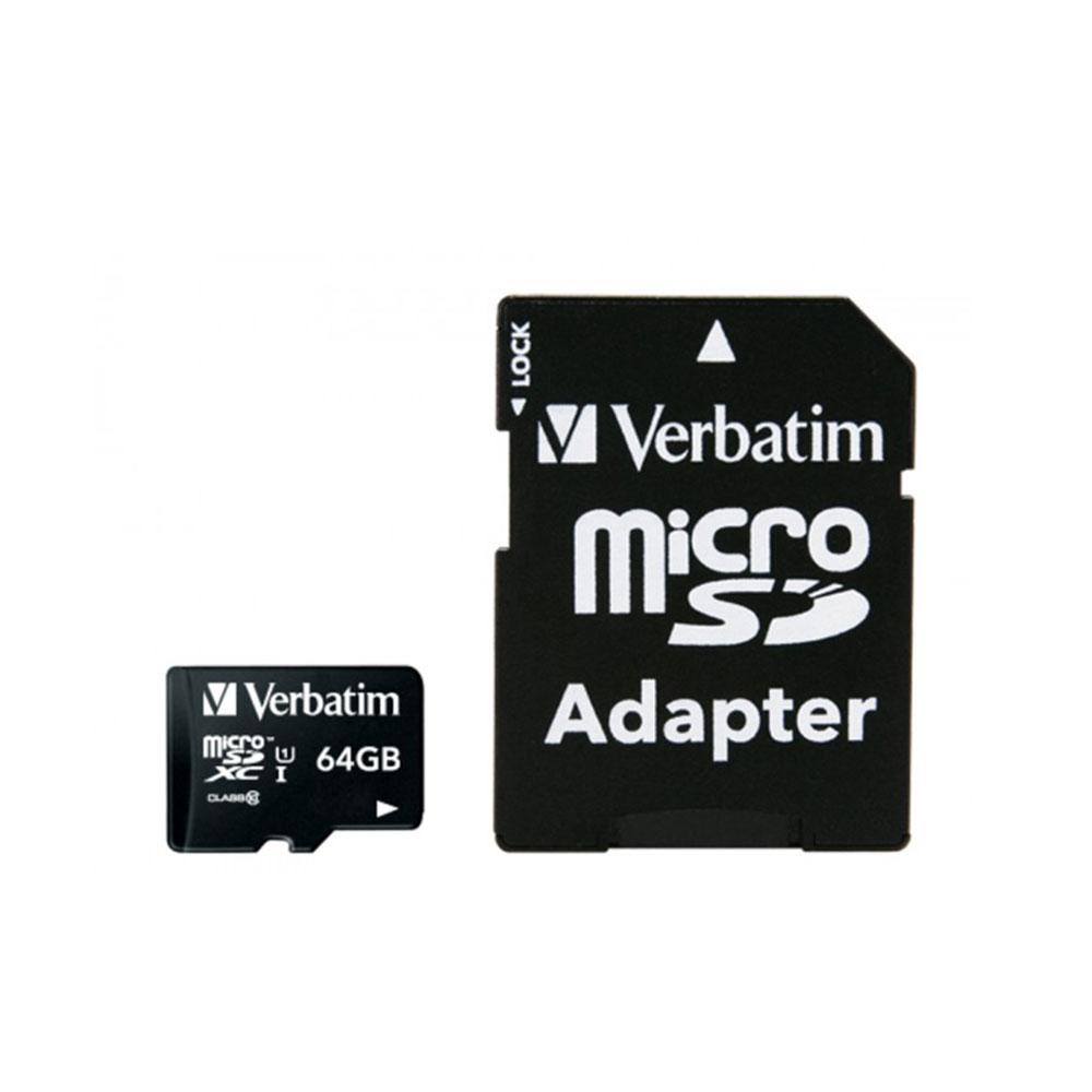 Verbatim 威寶 64GB Micro SDXC UHS-1 記憶卡 (含轉卡)
