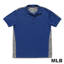 MLB-洛杉磯道奇隊修身撞色快排POLO衫-藍(男)