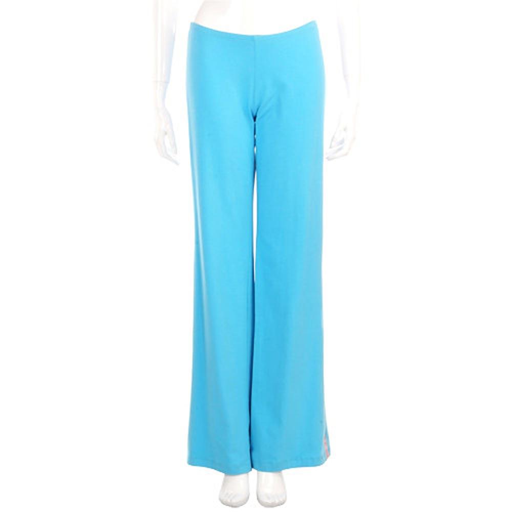 BLUGIRL 藍色拼接粉緞面棉質長褲