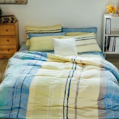 LAMINA 天堂海曼島 法蘭絨鋪棉床包被套四件組(雙人)