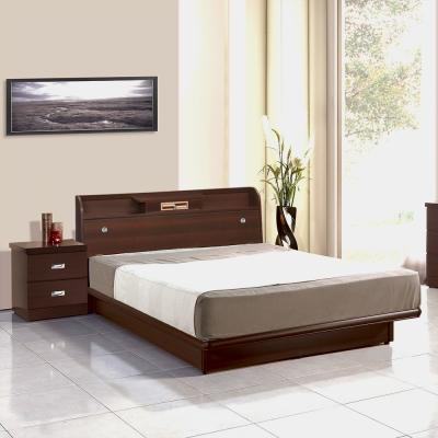 群居空間 孟羅小抽雙人胡桃5尺(床頭箱+掀床)