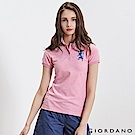 GIORDANO 女裝勝利獅王3D刺繡彈力萊卡POLO衫-22 仿段彩薔薇粉紅