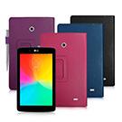 LG G Tablet 7.0 V400 支架磁扣荔枝紋 書本式保護套